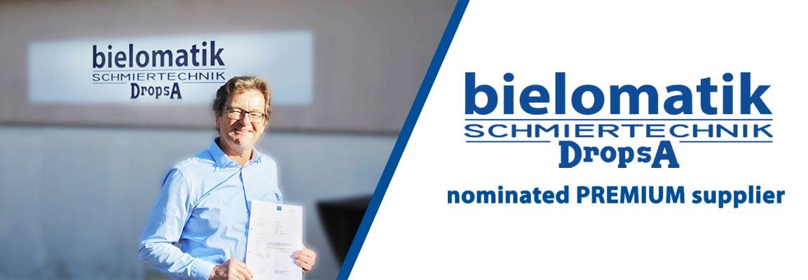 Bielomatik Schmiertechnik GmbH nominated PREMIUM supplier by TRUMPF
