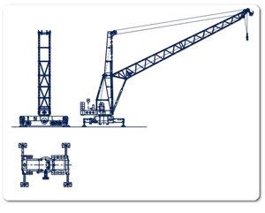 Cranes: dual line lubrication