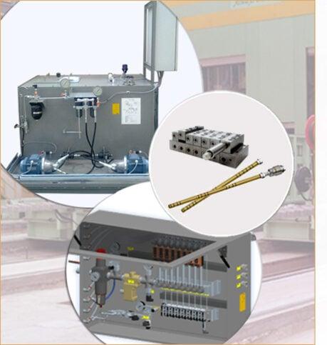 Lubrificazione aria/olio per laminato