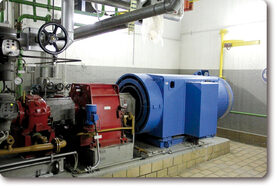 Incineration plant: automatic lubrication system