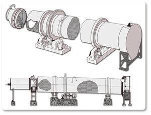 Lubrication rotary dryers